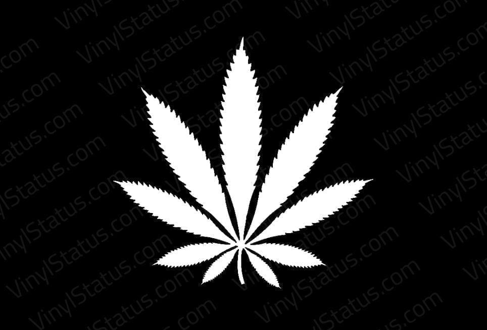 Weed Leaf Decal Premium Quality Vinyl Status