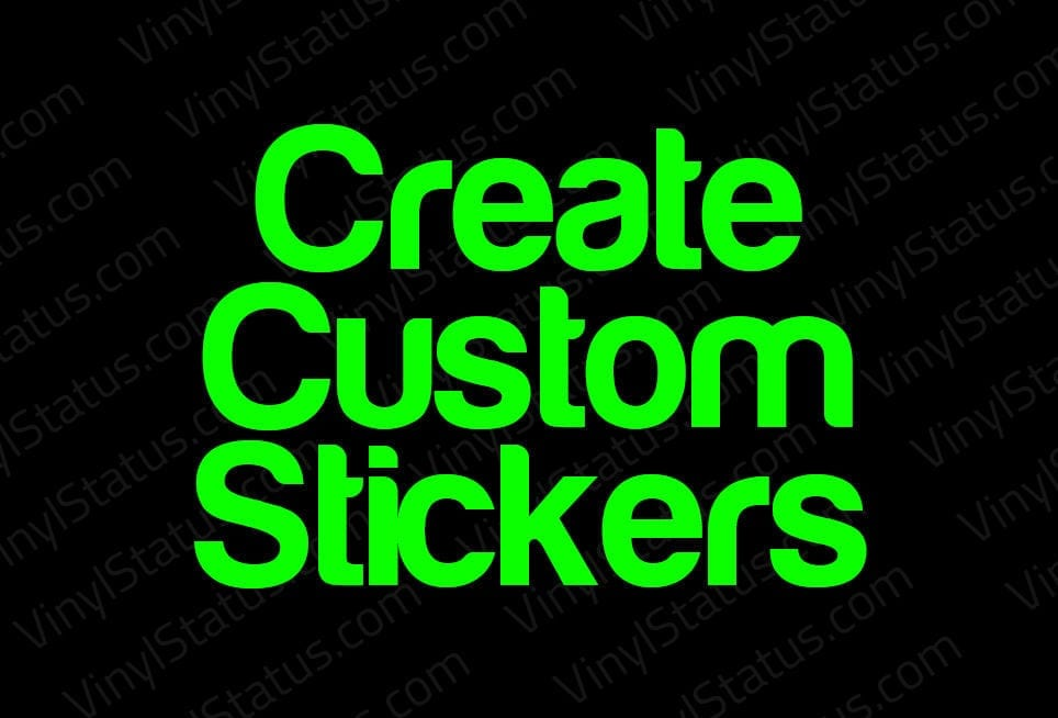Create Custom Decals Stickers Day Shipping Vinyl Status - Graphic design custom vinyl stickers