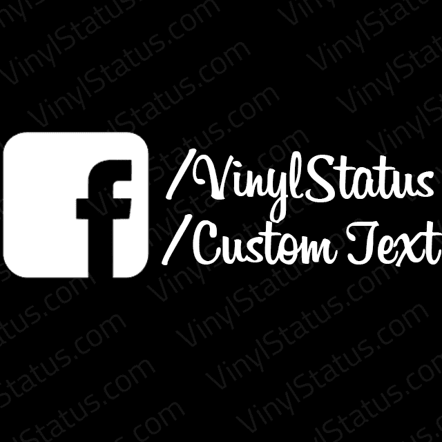 Custom Facebook Page Decal Cheap Amp On Sale Vinyl Status