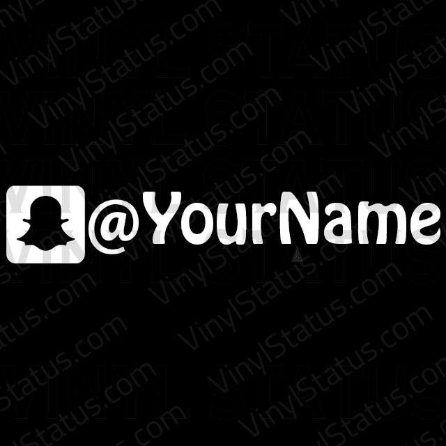 Custom Snapchat Username Sticker Vinyl Status