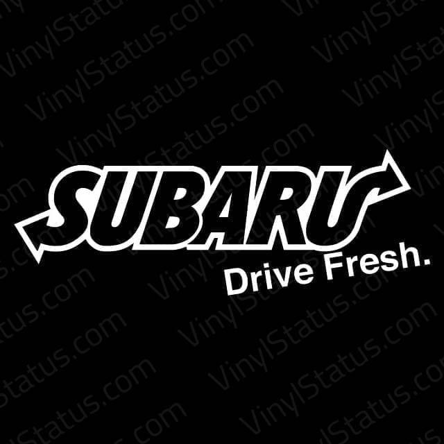 Subaru Drive Fresh Decal Subaru Wrx Sti Sticker Vinyl Status