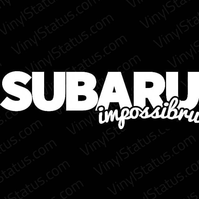 Subaru Impossibru Decal Subaru Wrx Sti Sticker Vinyl