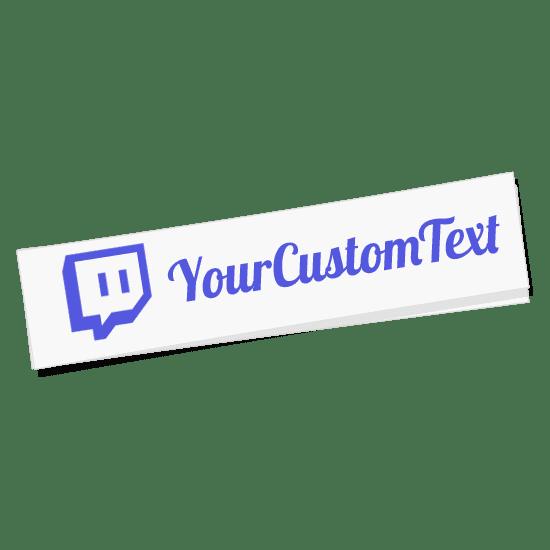 Custom Twitch Name Sticker
