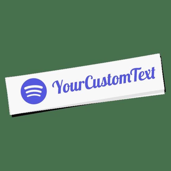 Spotify Name Sticker
