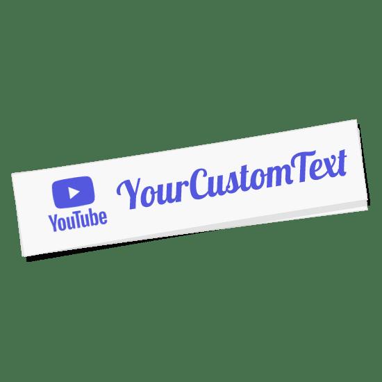 Custom Youtube Name Sticker
