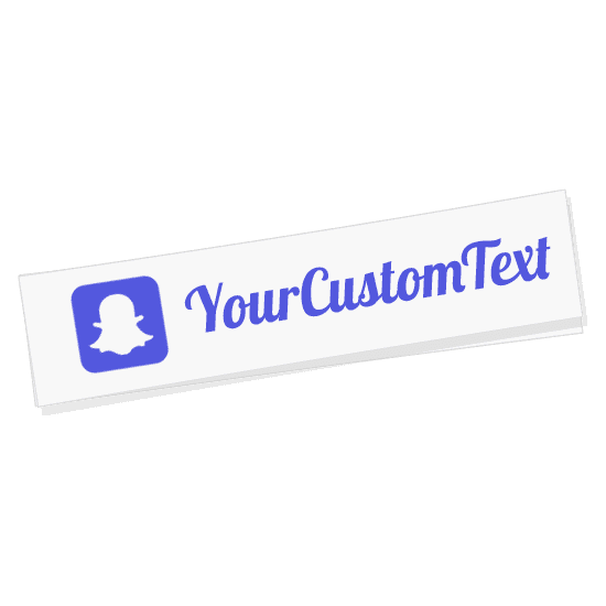 Custom Snapchat Name Sticker